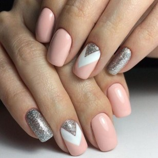 50 Acrylic Nails Ideas with Glitter Which You Love 35