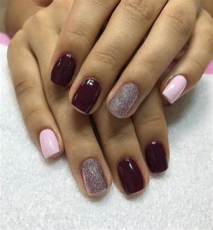 50 Acrylic Nails Ideas with Glitter Which You Love 36