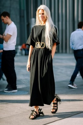 50 Dresses with Belt Styles Ideas 08