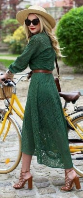 50 Dresses with Belt Styles Ideas 10