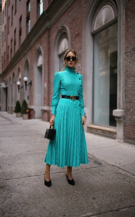 50 Dresses with Belt Styles Ideas 12