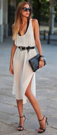 50 Dresses with Belt Styles Ideas 23