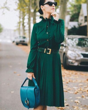 50 Dresses with Belt Styles Ideas 28