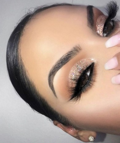 50 Shimmering Eye Makeup for Party Ideas 23