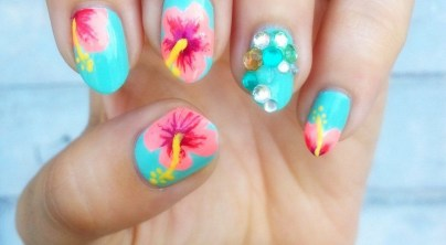 53 Ideas Fresh New Look Tropical Nail Designs 07