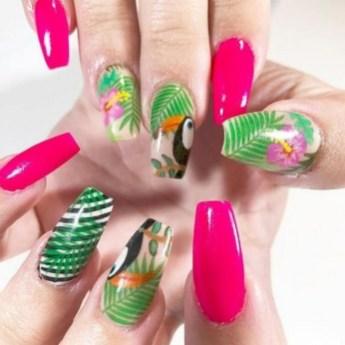 53 Ideas Fresh New Look Tropical Nail Designs 12