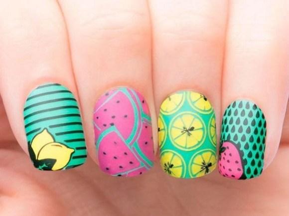 53 Ideas Fresh New Look Tropical Nail Designs 25