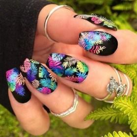 53 Ideas Fresh New Look Tropical Nail Designs 40