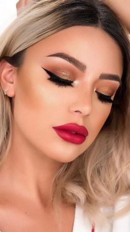 60 Lovely Makeup For Valentines Day Look Ideas 22