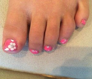 50 Ideas lovely Pink Toe Nail Art for Valentines Day 01