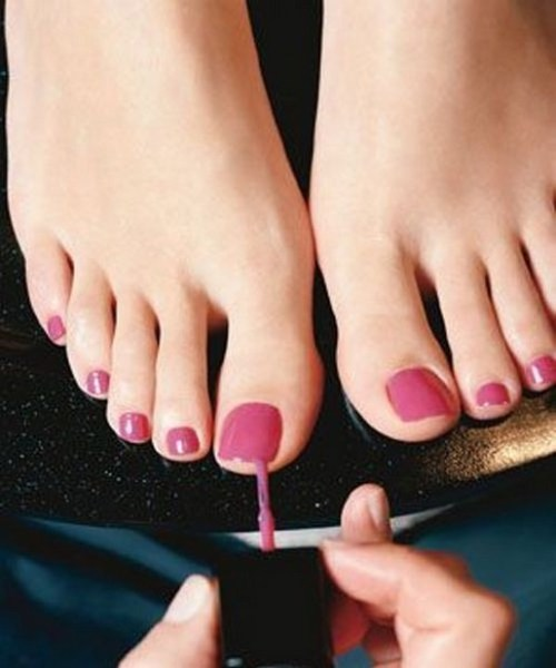 50 Ideas lovely Pink Toe Nail Art for Valentines Day 03