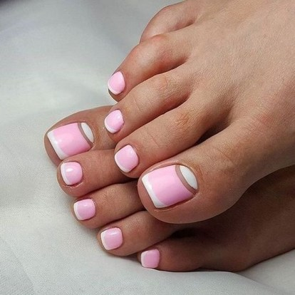 50 Ideas lovely Pink Toe Nail Art for Valentines Day 10