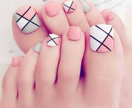 50 Ideas lovely Pink Toe Nail Art for Valentines Day 29
