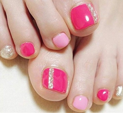 50 Ideas lovely Pink Toe Nail Art for Valentines Day 56