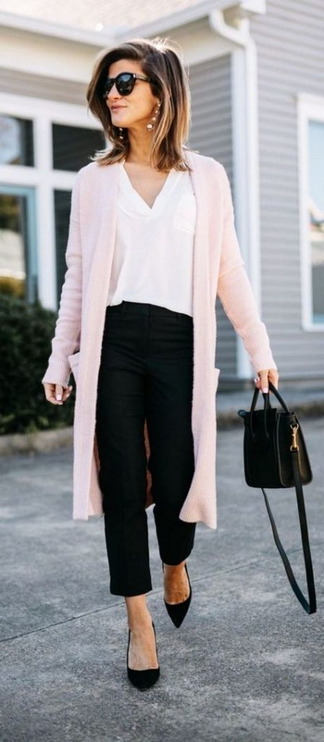 60 Stylish Cardigan Outfit Inspiration for Work 02