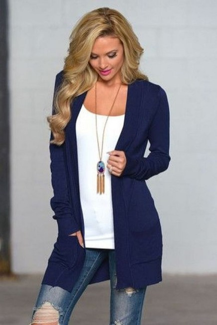 60 Stylish Cardigan Outfit Inspiration for Work 04