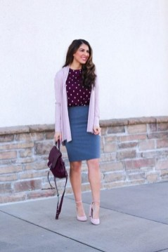 60 Stylish Cardigan Outfit Inspiration for Work 13