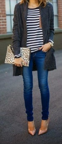 60 Stylish Cardigan Outfit Inspiration for Work 15