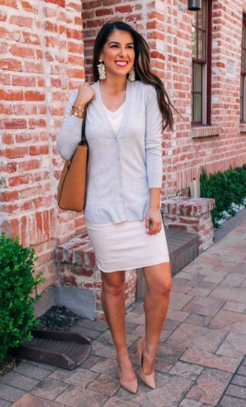 60 Stylish Cardigan Outfit Inspiration for Work 44