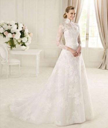 60 Victorian Styles Neckline for Wedding Dress Ideas 03