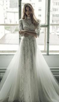 60 Victorian Styles Neckline for Wedding Dress Ideas 16