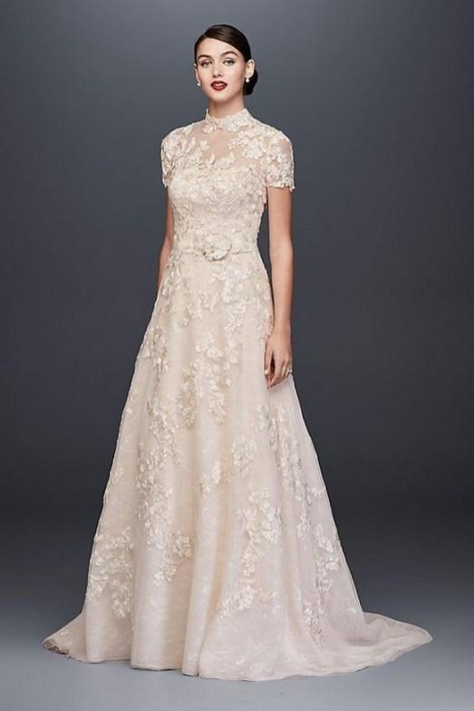 60 Victorian Styles Neckline for Wedding Dress Ideas 23