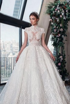 60 Victorian Styles Neckline for Wedding Dress Ideas 26