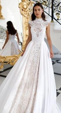 60 Victorian Styles Neckline for Wedding Dress Ideas 39