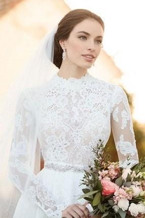 60 Victorian Styles Neckline for Wedding Dress Ideas 44