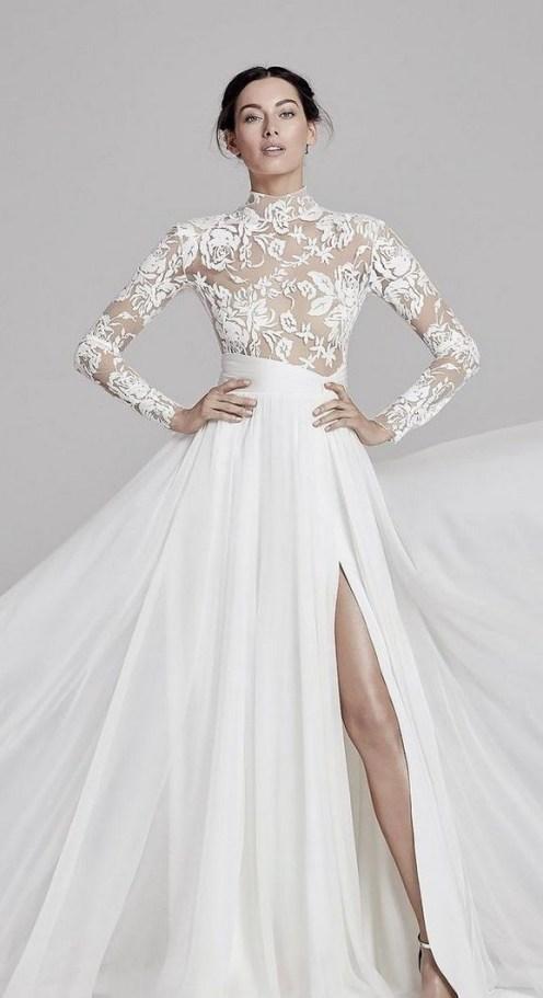 60 Victorian Styles Neckline for Wedding Dress Ideas 62
