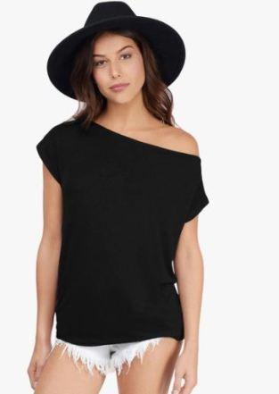 JC Collection Black T Shirt
