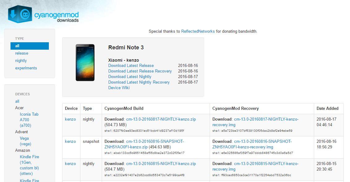 Xiaomi redmi note3 pro 公式CM13についにSnapshot(安定)版が公開