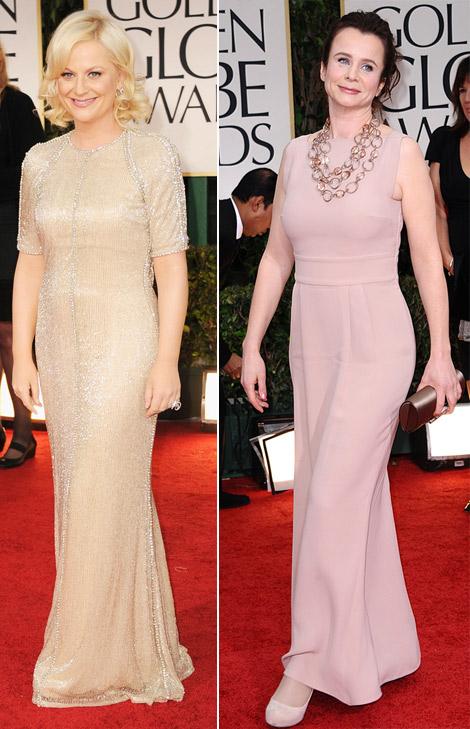 Amy Poehler Emily Watson nude dresses 2012 Golden Globes