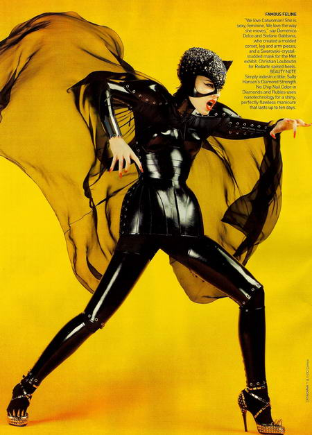 Coco Rocha in Vogue May as Catwoman