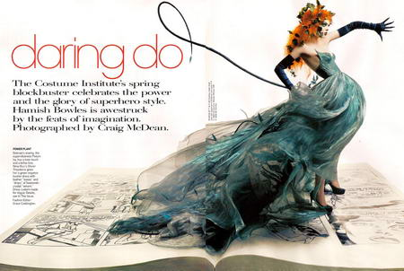 Coco Rocha in Vogue May As Poison Ivy