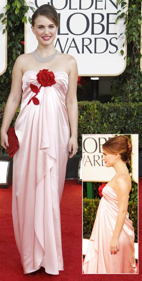 Natalie Portman's Pink Viktor & Rolf Dress For Golden Globes 2011