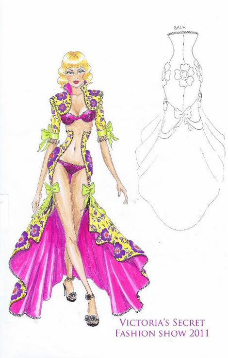 Victoria s Secret 2011 Fashion Show first look front back