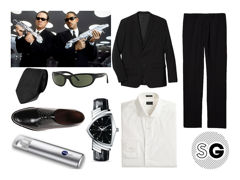 Black Suit Halloween Costumes for Guys