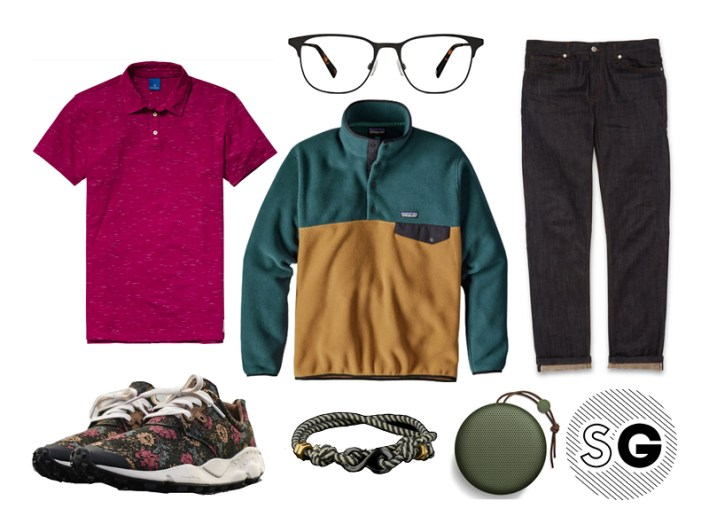 fleece pullover, polo, scotch&soda, patagonia, whistles, b&o play, flower mountain, warby parker
