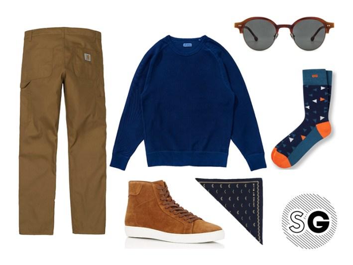 workwear pants, saturdays nyc, bandana, united by blue, barneys new york, steven alan, pair of thieves