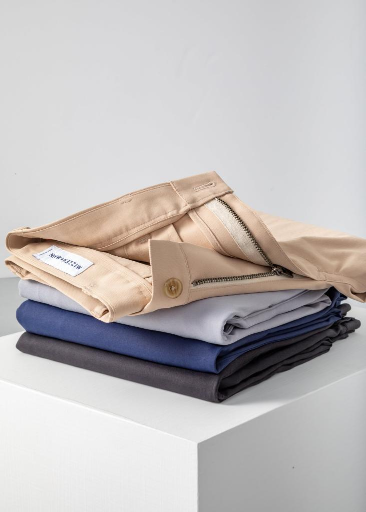 excuses not to dress well, no jeans january, mizzen+main pants