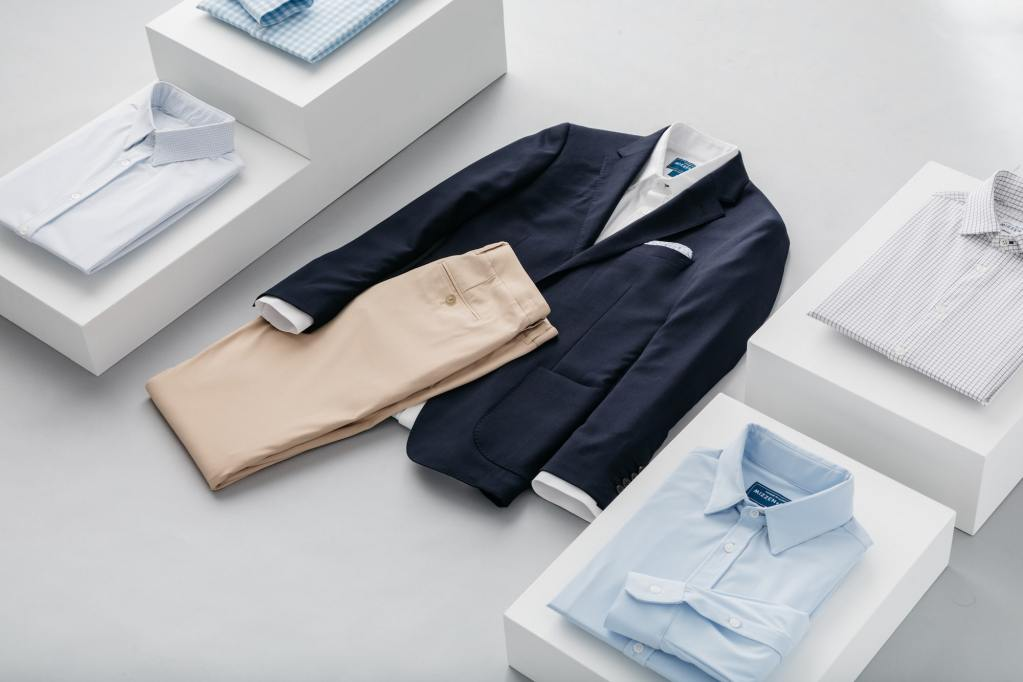 excuses not to dress well, no jeans january, mizzen+main