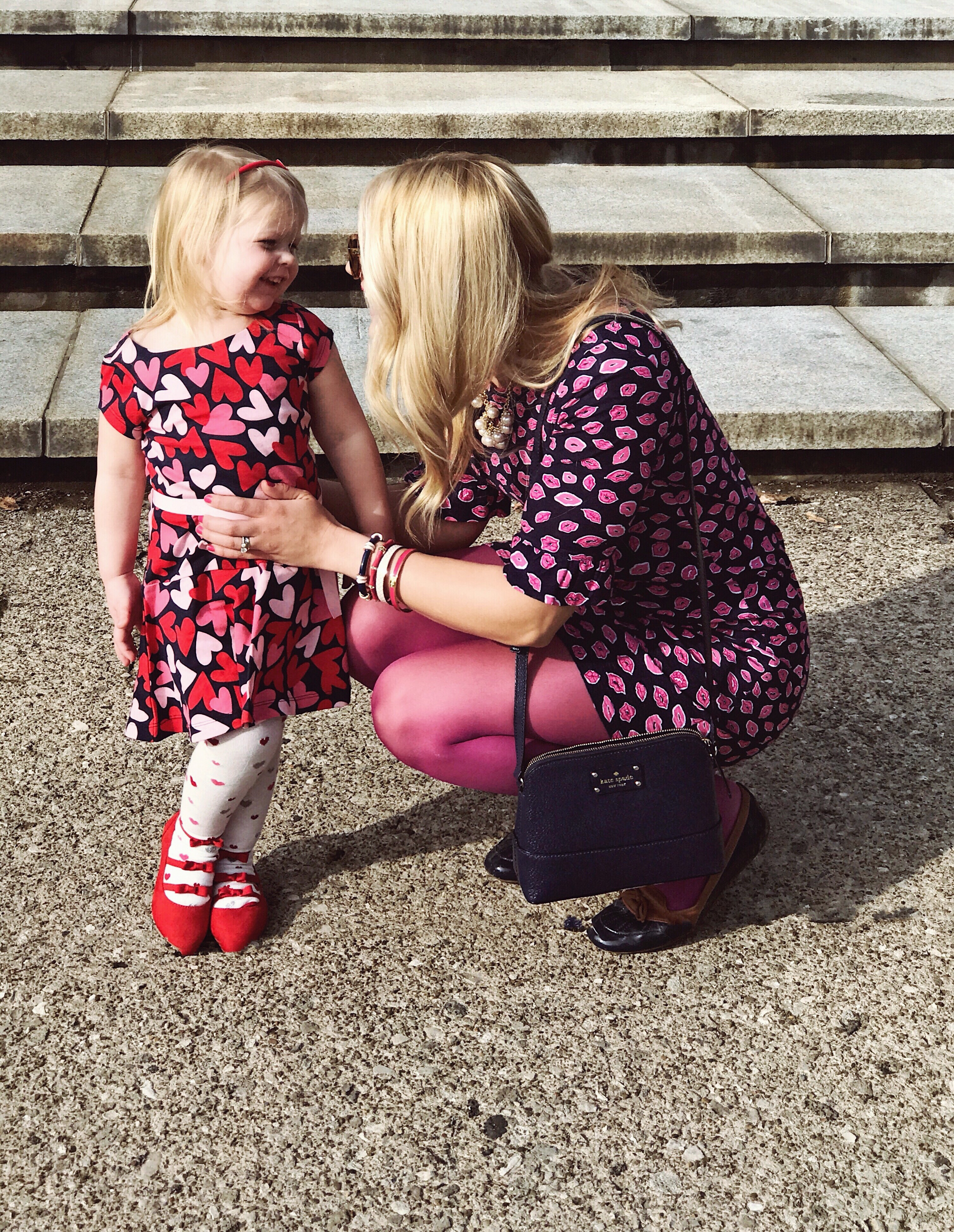Valentine's Day Outfits | Heart Print Dress | Lip Print Dress | Mommy and Me Outfits for Valentine's Day | www.styleherstrong.com