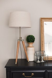 Lamp, vase and Greenery from HomeGoods