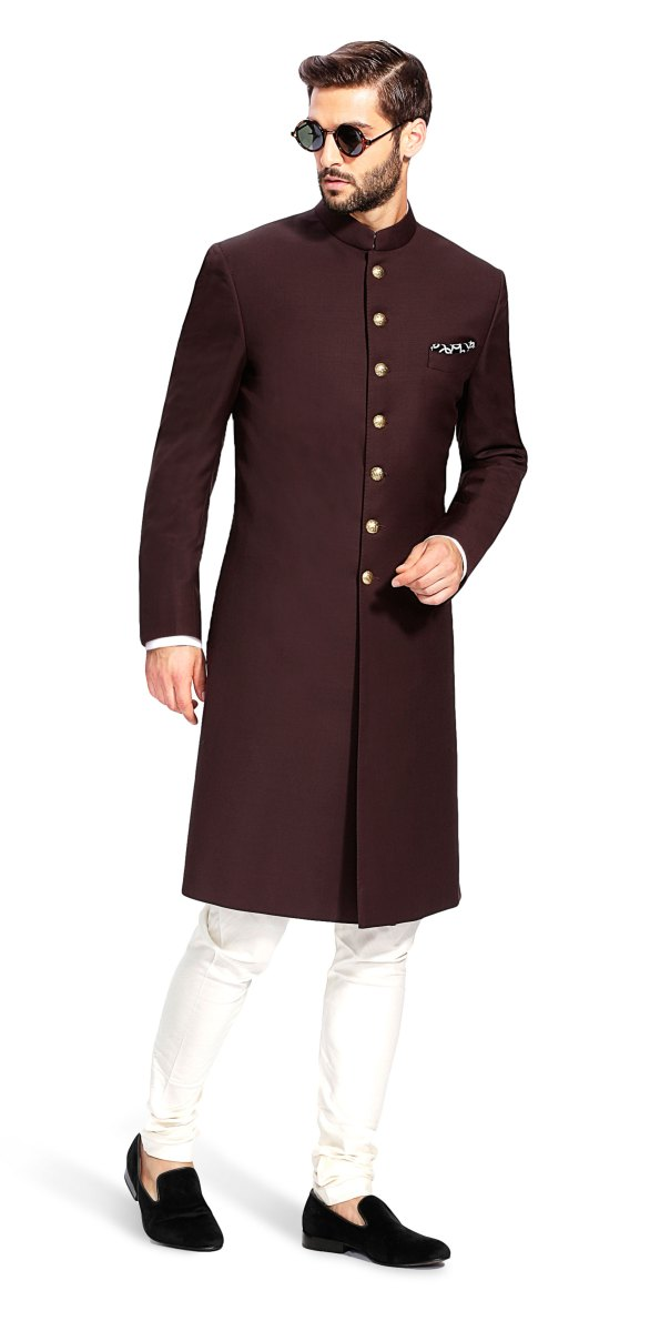 Sujaan Brown Sherwani