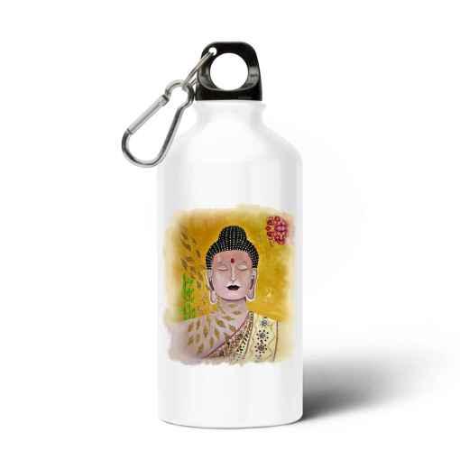 Buddha Aluminium Waterfles