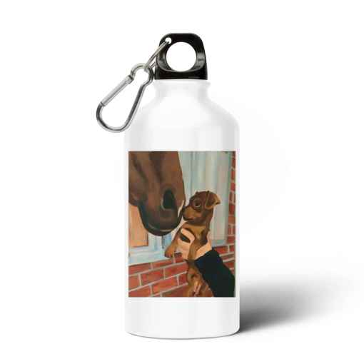 Puppy En Paard Aluminium Waterfles