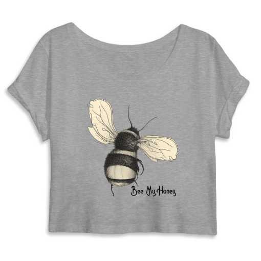 Bee My Honey Dames Organic Crop Top