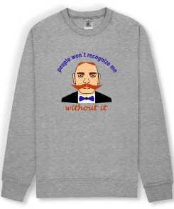 Moustache Heren Sweatshirt