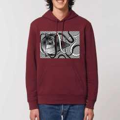 De Waanzin Van Driehoekige Vormen Heren T-shirt Met V-Hals 100% Biologisch Katoen
